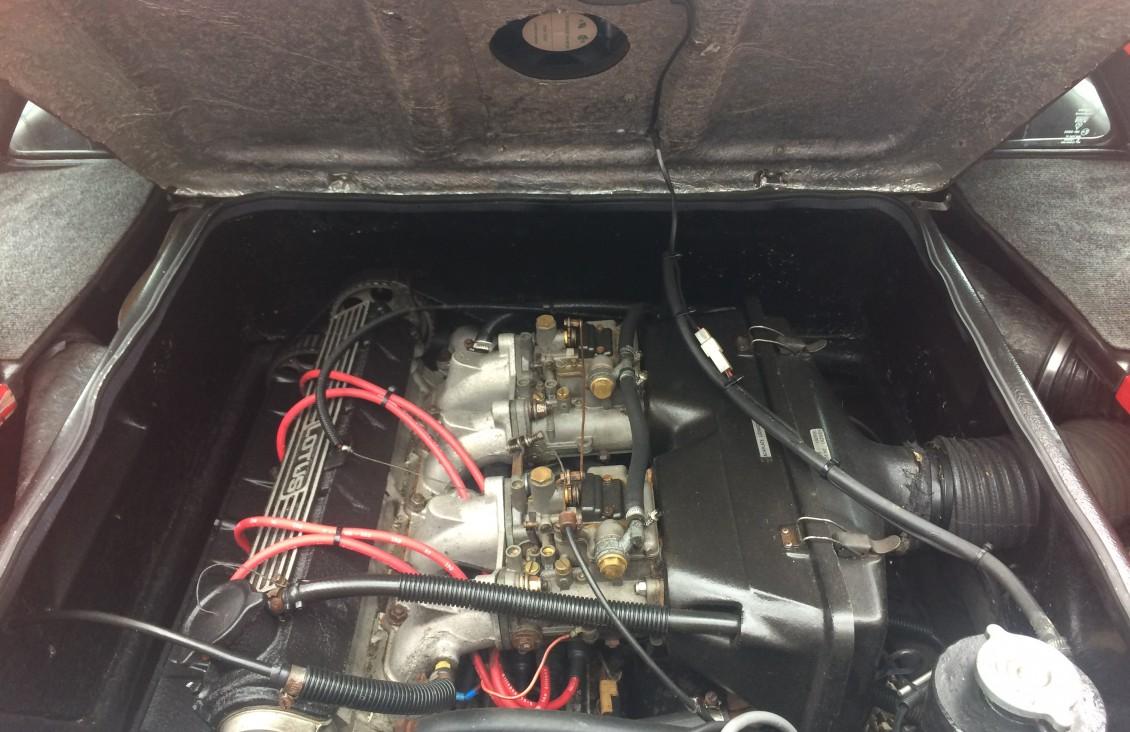 engine lotus esprit s3 1984 red european classic car