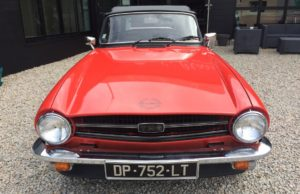 triumph tr 6 red 2.5l cabriolet english classic car for sale on euroean vintage cars