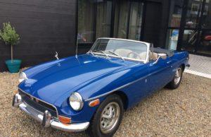 mg b cabriolet blue english vintage car for sale on european vintage cars
