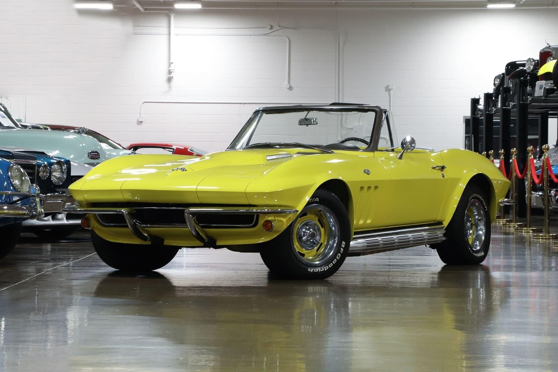 Chevrolet corvette convertible à vendre sur www.european-vintage-cars.com/fr