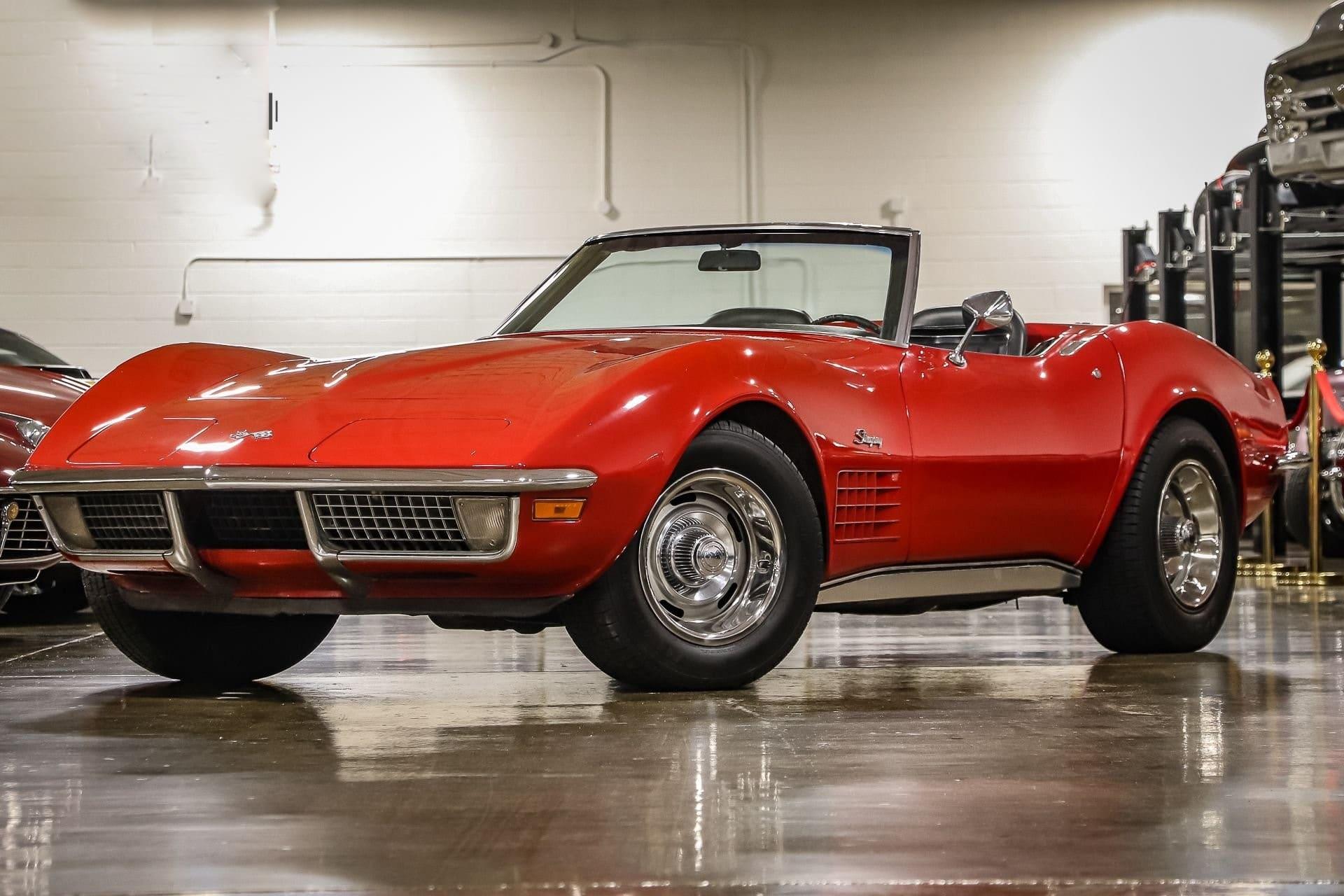 Chevrolet Corvette convertible 1970 à vendre sur www.european-vintage-cars.com/fr.